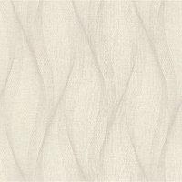 Обои горячее тиснение на флизелине IDECO 3002 UV Волна бежево-серая, 1,06х10 м