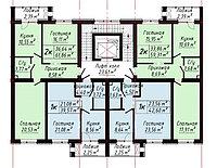 2 ком в ЖК  «The House». 61.86 м², фото 1