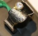 """Серебряное кольцо из коллекции """"Натуральные камни"""". Вставка: циркон, вес: 8,1 гр, размер: 19"""