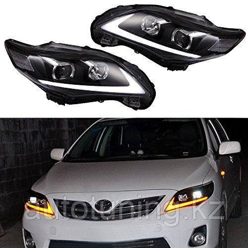 Альтернативная головная оптика в стиле Lexus на Toyota Corolla Е14\Е15 2010-2013