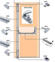 Система антипаника Fapim Panama Bar 8802D на две точки запирания