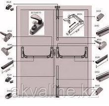 Система антипаника Fapim Panama Bar для двухстворчатой двери