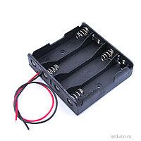 BOX Bat Holder 4*AA контейнер для батареек