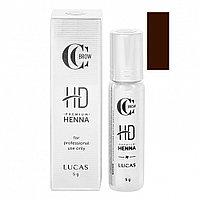 Хна для бровей Premium henna HD CC Brow (классический коричневый) 5 г №00207