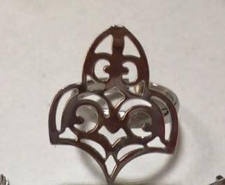 Серебряное кольцо в Национальном стиле. Вес: 4 гр, размер: регулируемый, покрытие: родий