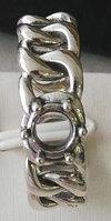 Серебряное кольцо в виде цепей. Вес: 4,7 гр, размер: регулируемый