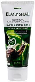 Jigott Natural Black Snail Foam Cleansing Очищающая пенка с муцином черной улитки, 180 мл