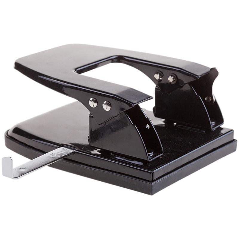 Дырокол OfficeSpace 30л., металлический, черный, с линейкой