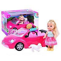 Кукла Kiki Love с собакой на машине-кабриолете