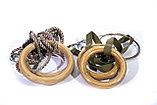 Кольца гимнастические профессиональные изготовлены из материала эбонит в комплекте с подвеской, фото 4