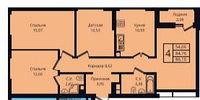 """4 комнатная квартира в ЖК """"Esil Plaza"""". (Есиль Плаза) 86.1 м², фото 1"""