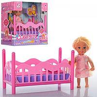 Игровой набор Cute Girl - Кукла с кроваткой, 11.5 см Артикул: K899-27