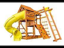 """Игровая площадка """"Playgarden SkyFort Deluxe II"""" с двухволновой горкой, горкой-трубой и рукоходом"""