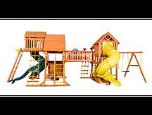 """Игровая площадка """"Playgarden Mega SkyFort"""" с двумя игровыми домиками и переходом"""