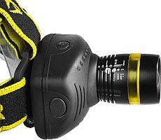 Налобный светодиодный фонарь, регулируемый фокус, 3Вт, 140Лм, 3 режима, 3ААА STAYER PROFESSIONAL