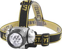 Налобный светодиодный фонарь 7LED, 3 режима, 3ААА STAYER STANDARD