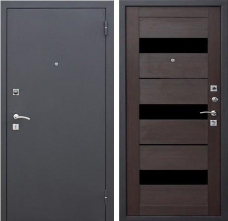 Двери входные металлические Царга СБ-9 венге