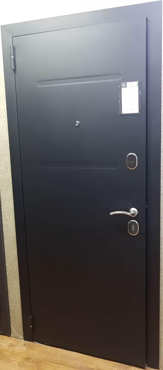 Дверь входная металлическая утепленная Штрих белая сосна