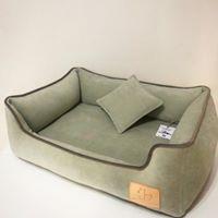 Лежанка с подушкой прямоугольная с входом Musya&Tosha 90*70*26 см, фото 1
