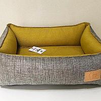 Лежанка с подушкой прямоугольная Musya&Tosha 50*40*18 см, фото 1