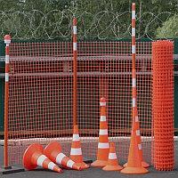 Аварийное строительное ограждение (оранжевая пластиковая сетка). Алматы и Астана (Нур-Султан).