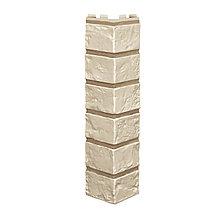 Угол наружный для фасадных панелей VILO BRICK (крашенные швы) Ivory