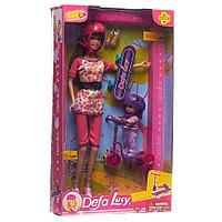 КУКЛА Defa Lucy с дочкой со скейтом и самокатом, арт. 8191