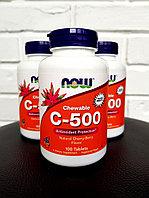 Now Foods, Витамина C-500 мг, 100 жевательных таблеток, фото 1