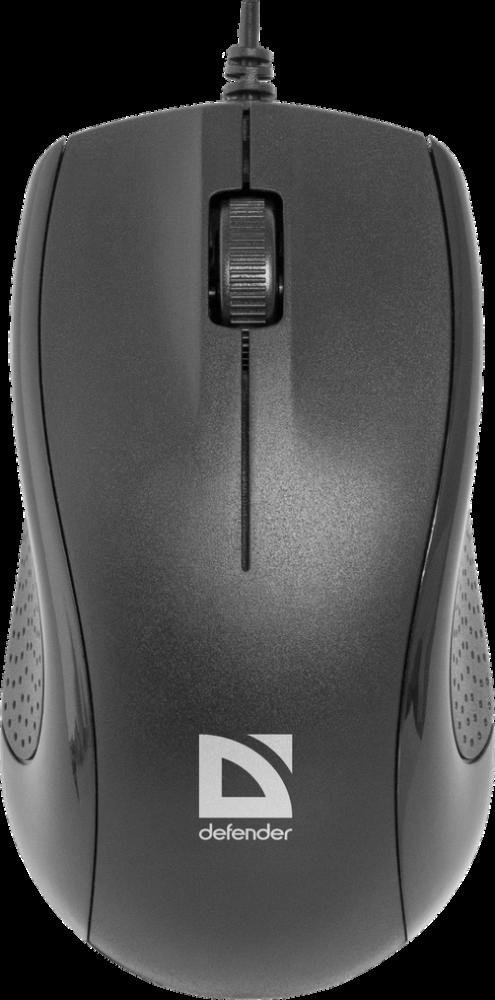 Мышь проводная Defender Optimum MB-160 (Черный)