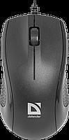 Мышь проводная Defender Optimum MB-160 (Черный), USB 2кн, 1кл-кн. Полноразмерная мышь для ПК, сенсор