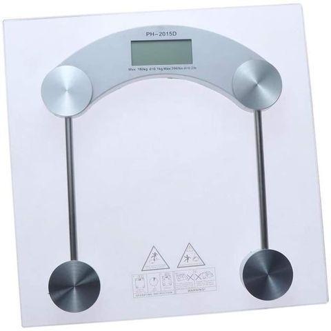 Весы наполные электронные стеклянные Personal Scale {до 180 кг} (Квадрат)