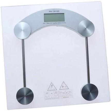 Весы наполные электронные стеклянные Personal Scale {до 180 кг} (Квадрат), фото 2