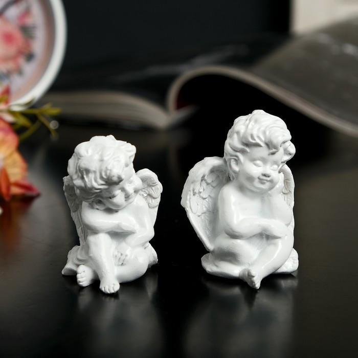 """Сувенир полистоун """"Белоснежный ангел малыш"""" МИКС 5х4х3,5 см"""