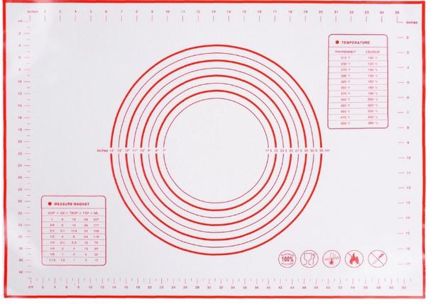 Силиконовый коврик для выпечки и раскатки теста с разметкой B.Baker 50х40, фото 2
