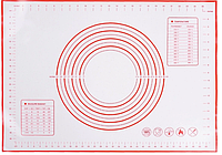 Силиконовый коврик для выпечки и раскатки теста с разметкой B.Baker 50х40