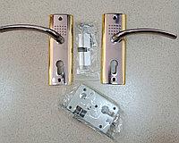 Дверная ручка APS S3011-96-BN с замком Золото