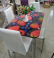 Стол кухонный Грация (стекло) 65*99,5 см, фото 1