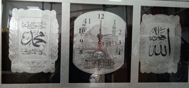 Мусульманская картина-часы (рама Серебро)