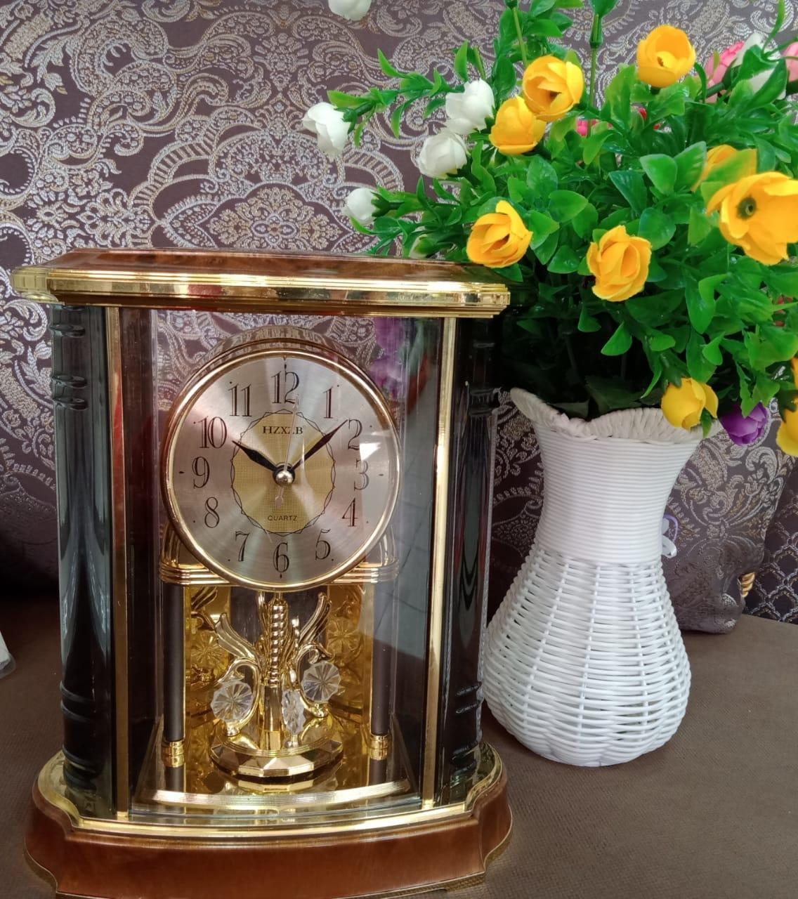 Часы каминные настольные деревянные