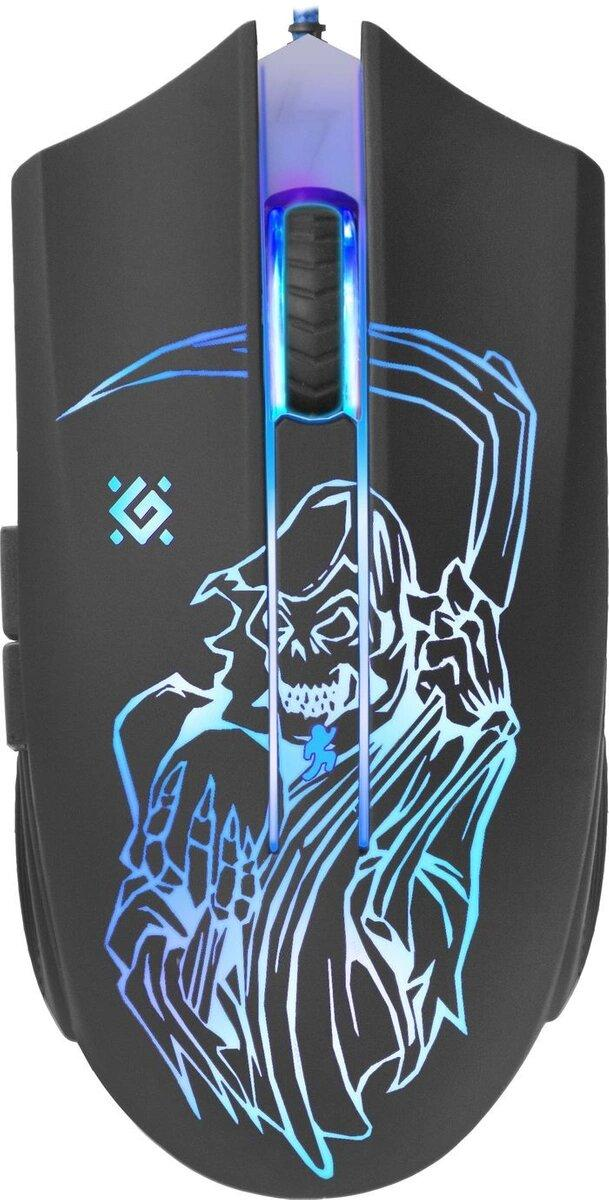 Мышь игровая Defender Ghost GM-190L оптика,6кнопок,800-3200dpi