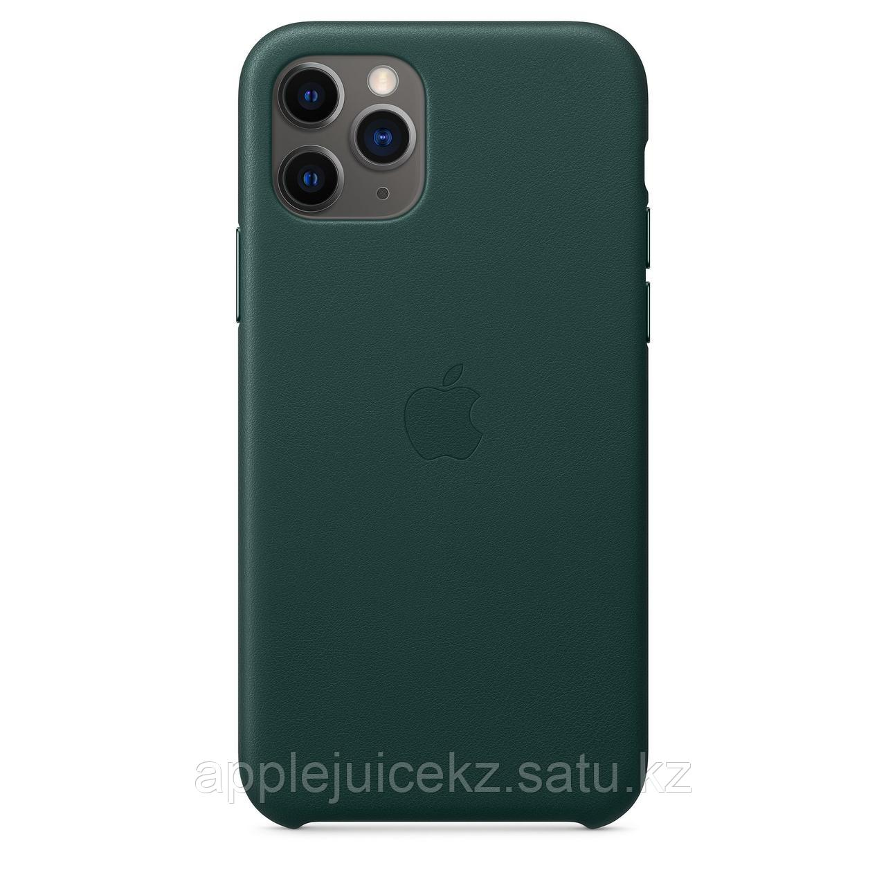 Кожаный чехол для iPhone 11 Pro, цвет «зелёный лес»/ Кожаный чехол для iPhone 11 Pro Max, цвет «лимонный сироп