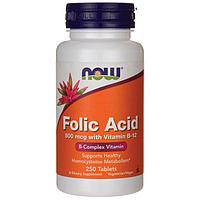Фолиевая кислота 850 мг, Now foods 250 таблеток.