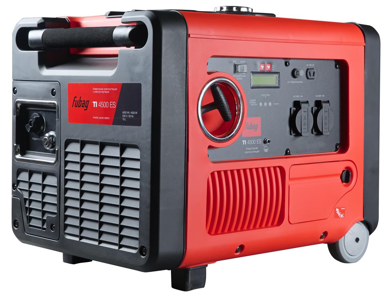 Бензиновый генератор, инверторный 4.5 кВт, FUBAG TI 4500 ES в кожухе