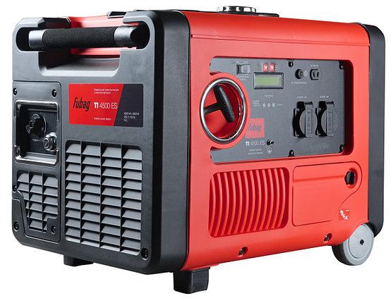 Бензиновый генератор, инверторный 4.5 кВт, FUBAG TI 4500 ES в кожухе, фото 2