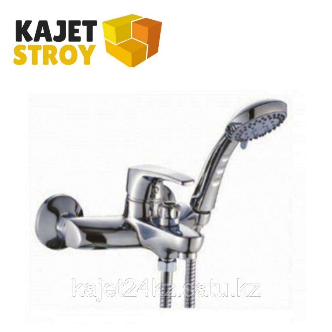 Смеситель KOLAG 1224 одноручный для ванны с коротким изливом, дивертор кнопочный (12)