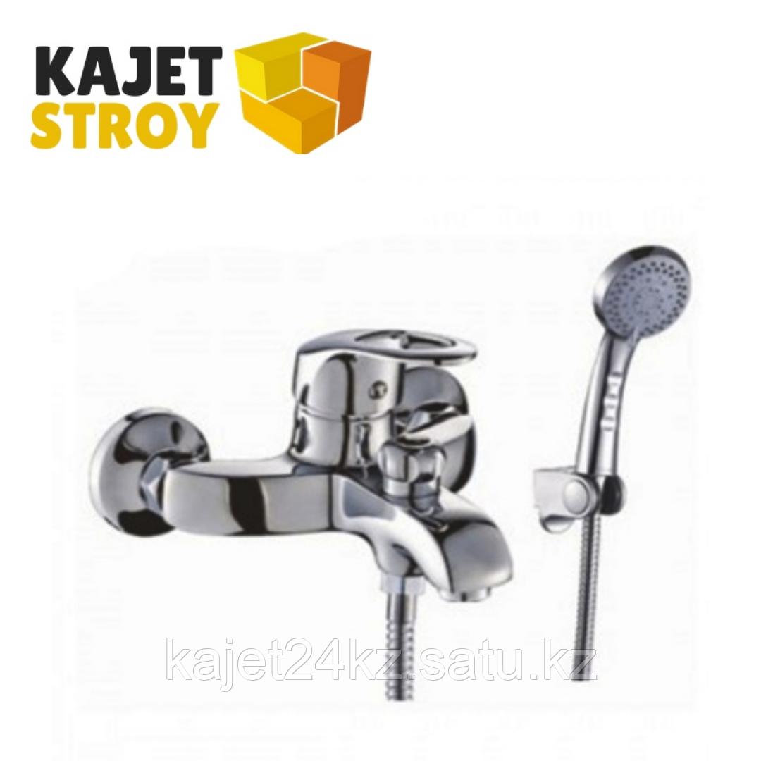 Смеситель KOLAG 1324 одноручный для ванны с коротким изливом,дивертор поворотный (12)