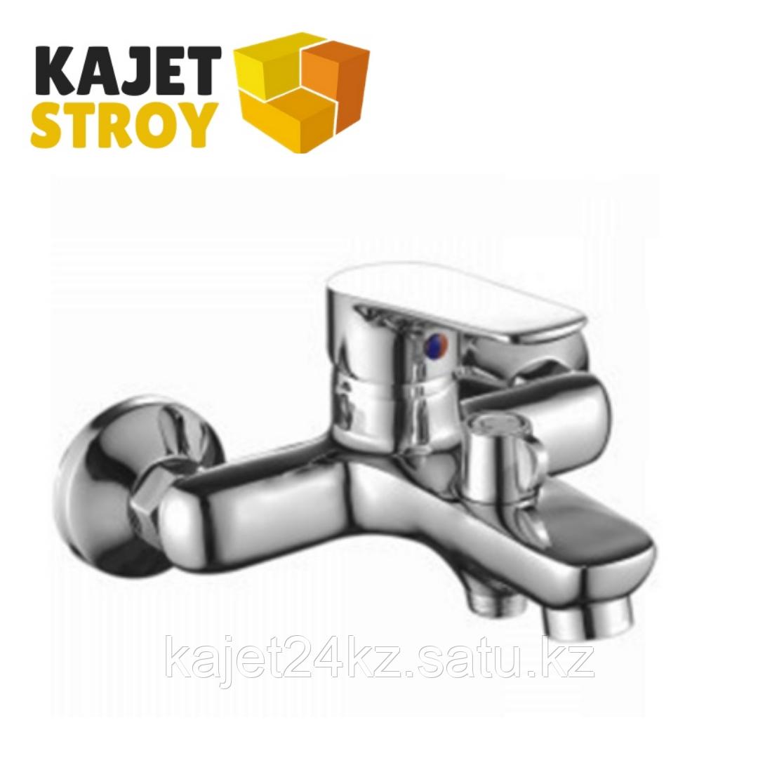 Смеситель KOLAG 1524 одноручный для ванны с коротким изливом, дивертор кнопочный (12)