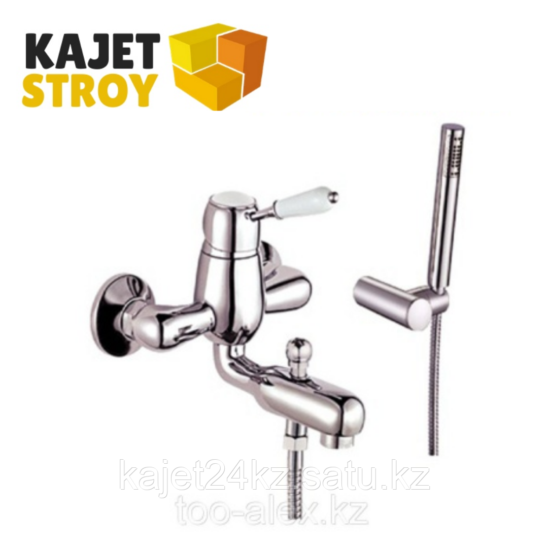 Смеситель KOLAG 2824 одноручный для ванны с коротким изливом, дивертор кнопочный (12)