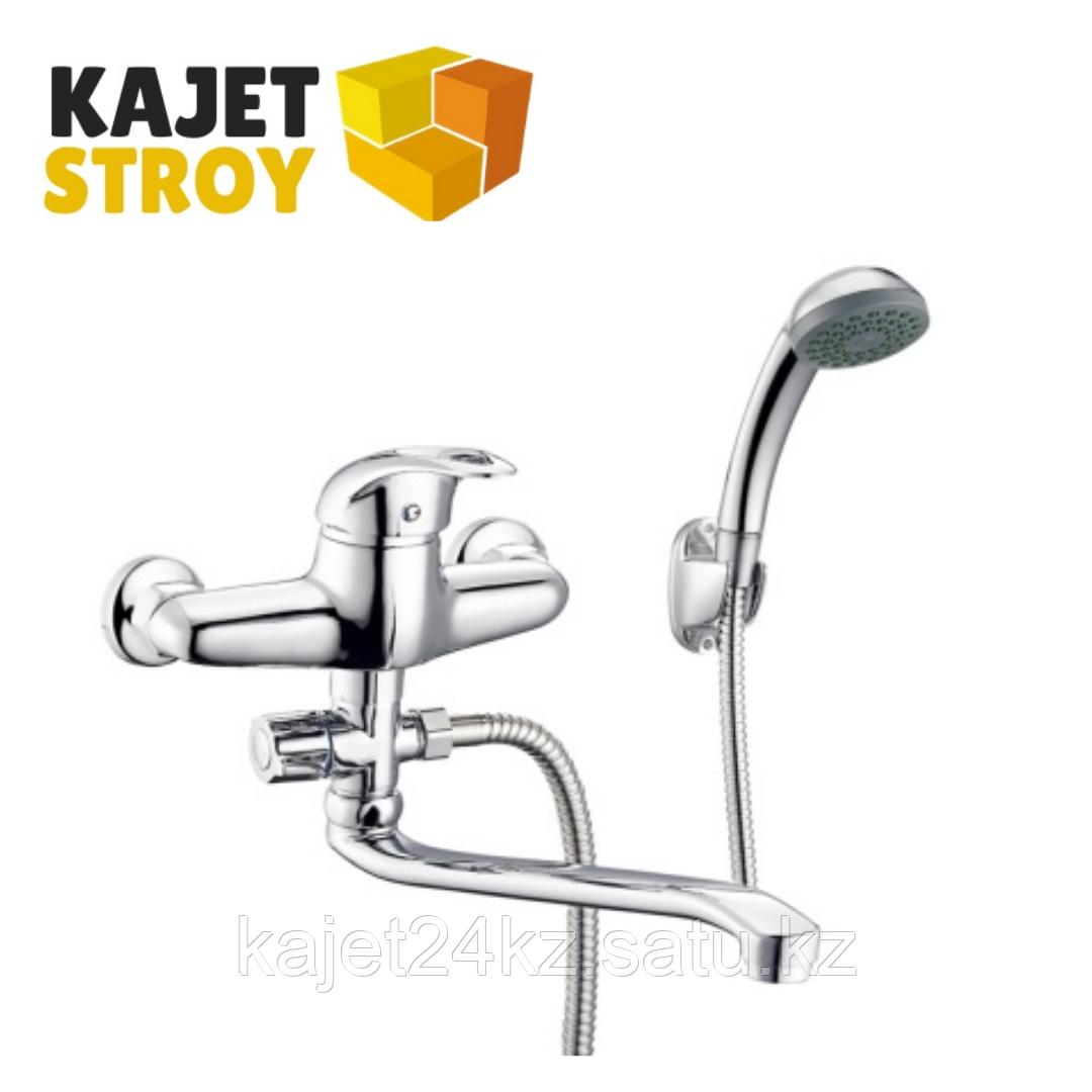 Смеситель ZEGOR NHK6-С048 одноручный для ванны с поворотным плоским изливом 350 мм (10)