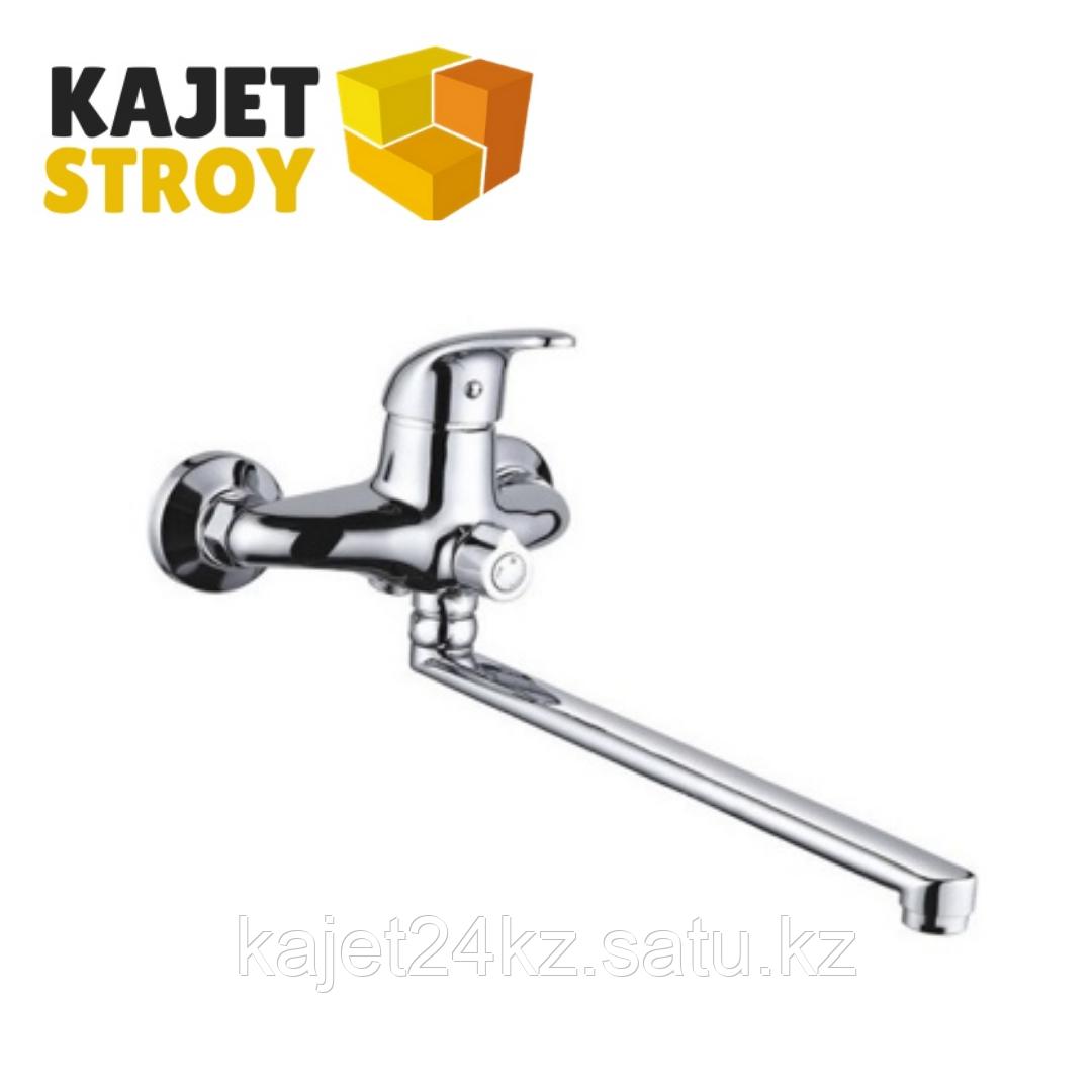 Смеситель ZEGOR NHK7-A149 одноручный для ванны с поворотным плоским изливом,дивертор поворотны